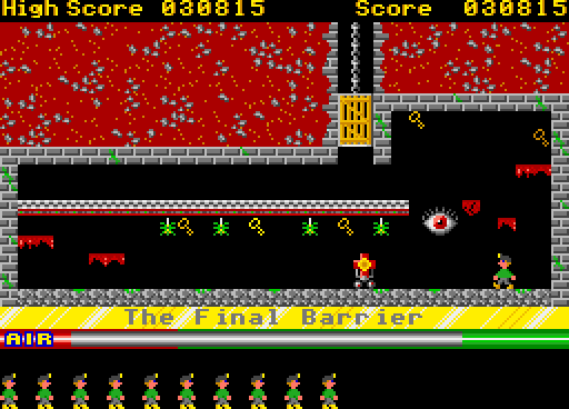 The Spectrum classic Manic Miner was converted to the Atari ST by Peter Jørgensen in 2018.