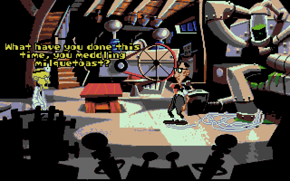 Day of the Tentacle is the crazy follow up to Maniac Mansion, wait till you hear the talkie version. A full speech adventure game on the ST(e).