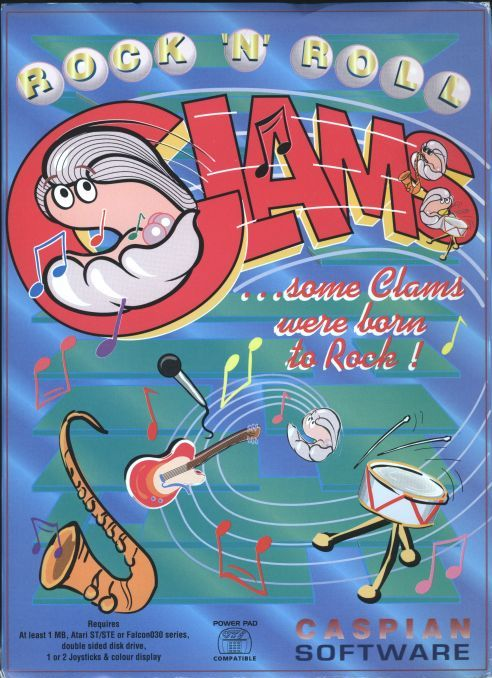 Rock and Roll Clams, a pinball-based platform game. The debut title for ambitious publisher Caspian Software.