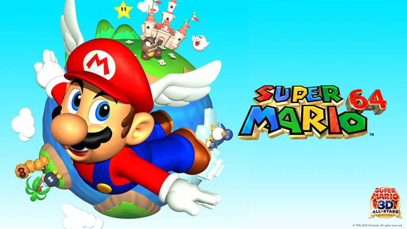 Mario 64, one of the best 3D platformers of all time.