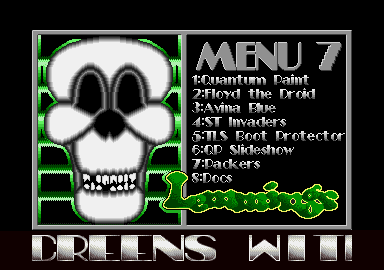 Screenshot of disk