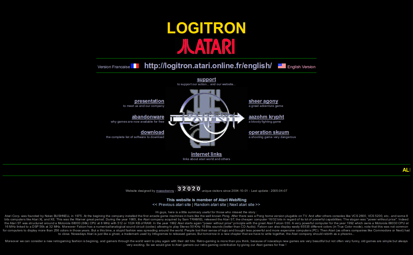 Screenshot of website Logitron