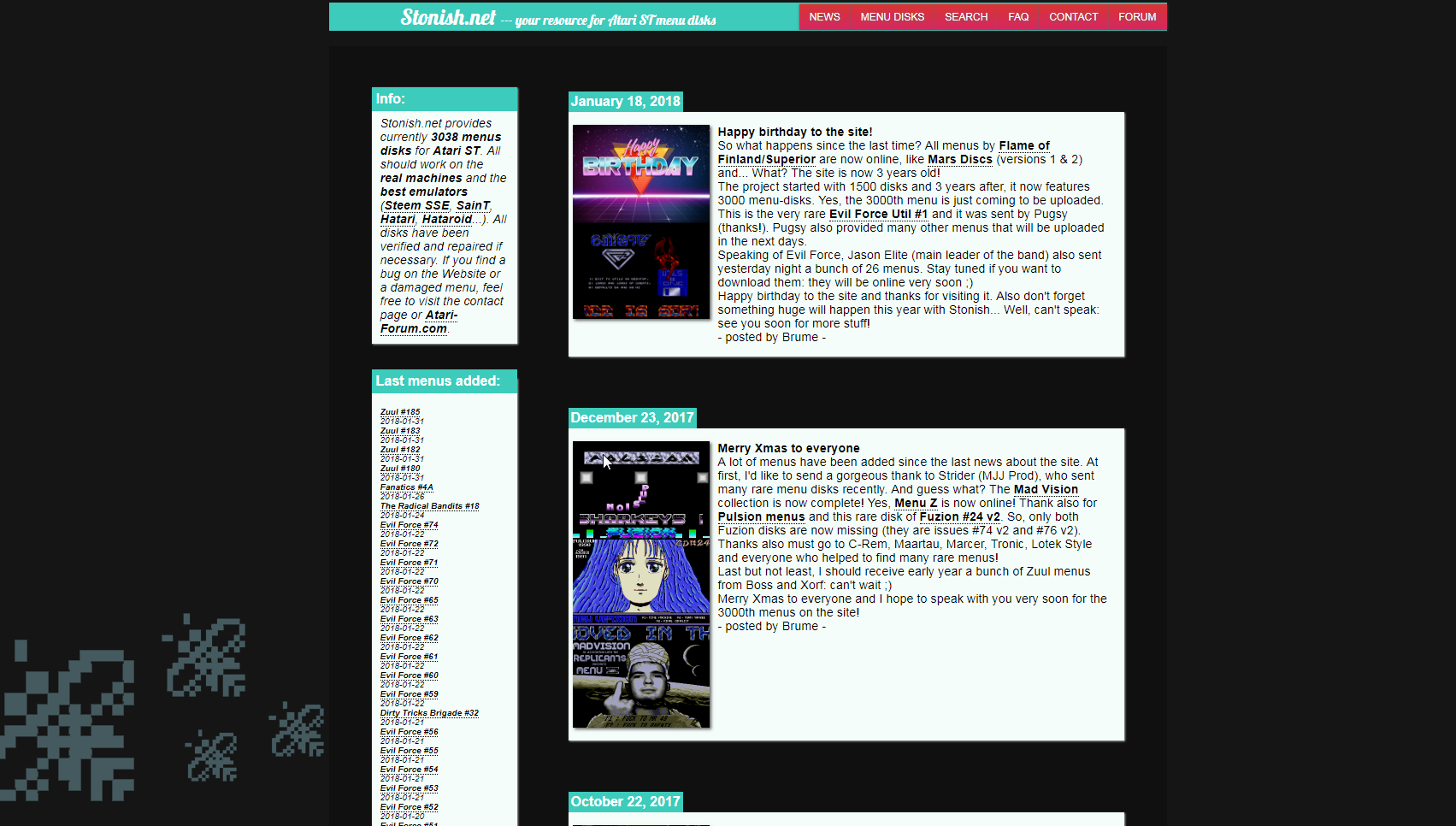 Screenshot of website Stonish